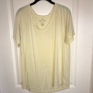 AE Soft and Sexy Yellow Tee - Large
